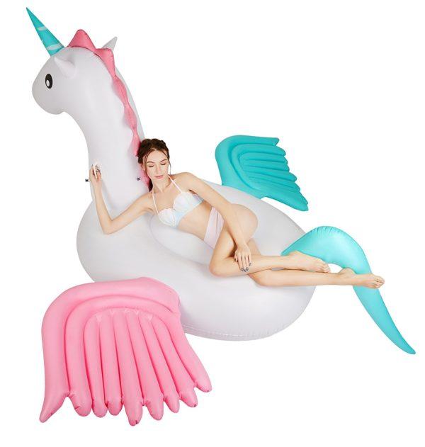 inflatable giant unicorn pool float獨角獸浮床