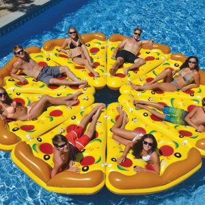 giant pizza pool float