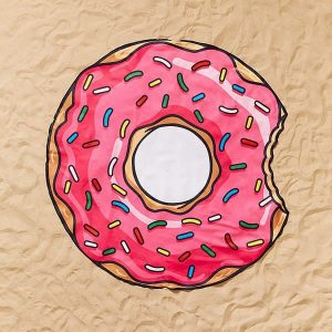 Donut Beach Blanket Mat Towel