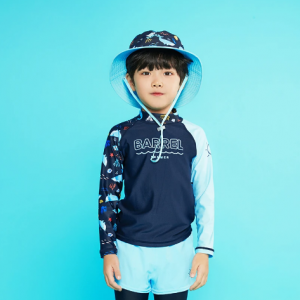 Barrel Kids Summer Rashguard-DEEP NAVY