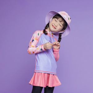 Barrel Kids Summer Rashguard-PALE PURPLE