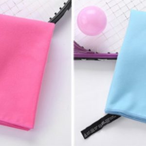 Blue & Pink Microfiber Quick Dry Towel