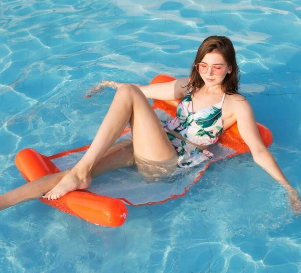 Colorful Inflatable pool floating cushion mat -彩色充氣浮墊