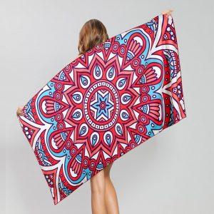 Pink Mandala Summer Microfiber Beach Towel