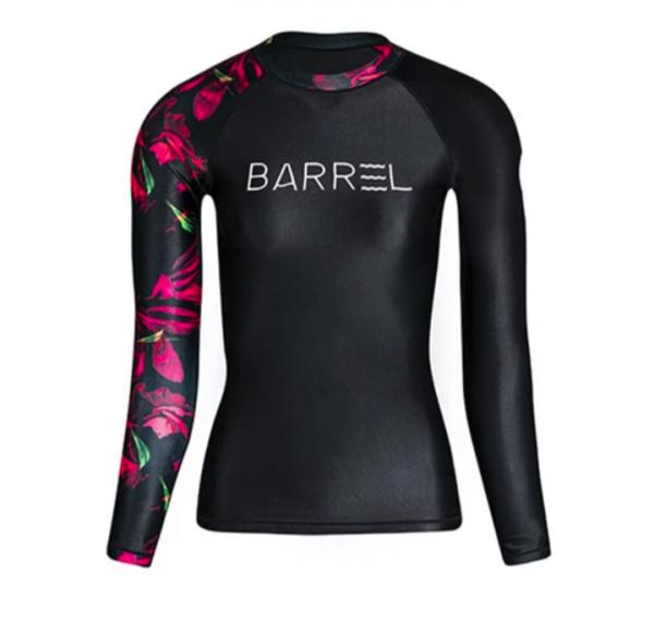 Barrel Womens Odd Rashguard-BLACK