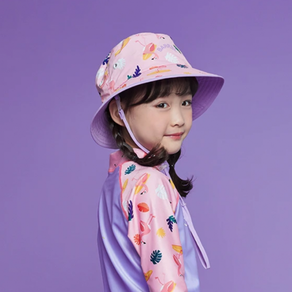 Barrel Kids Pattern Bucket Hat-MINGO