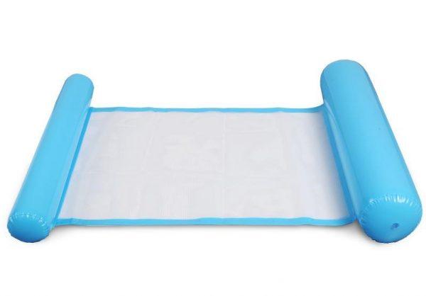 light blue Inflatable pool floating cushion mat -彩色充氣浮墊