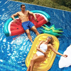 Giant Inflatable Watermelon and pineapple Pool Floatie