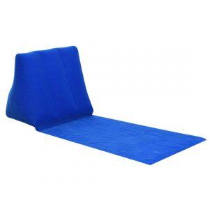 Inflatable Beach Sunbathing Lounger Back Pillow Cushion Chair hk